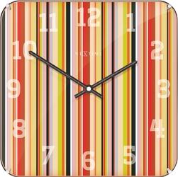Zegar ścienny kwadratowy smithy dome nextime 35 x 35 cm 3169
