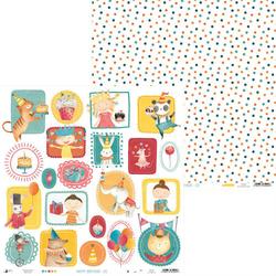 Papier do scrapbookingu Happy Birthday 30,5x30,5 cm - 02 - 02