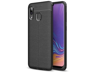Etui alogy leather armor do samsung galaxy a40 czarne + szkło 3mk fg