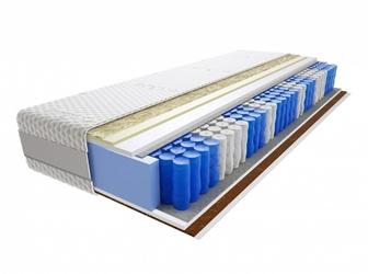 Materac kieszeniowy Anisa 180x210 cm Średnio  Bardzo twardy Visco Memory 2x Kokos