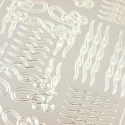 Stickers ażurowy srebrny 10x23 cm - dekor - 1888