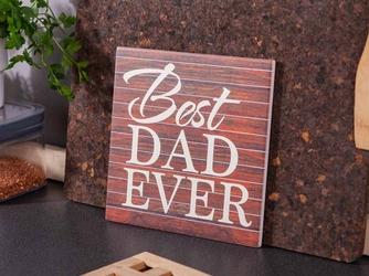 Deska dekoracyjna  podkładka pod garnek ceramiczna altom design best dad ever 20 x 20 cm