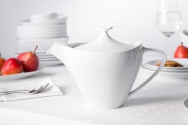 Imbryk  czajnik do herbaty  do kawy porcelana mariapaula moderna biała 1 l