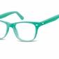 Okulary dziecięce zerówki nerdy ak48b zielone