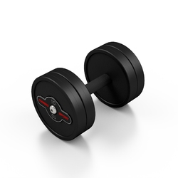 Hantla stalowa gumowana 10 kg czarny mat - marbo sport - 10 kg