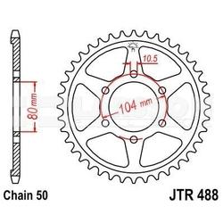 Zębatka tylna stalowa jt 488-46, 46z, rozmiar 530 2300402 kawasaki zrx 1200, z 650