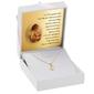 Złoty medalik z łańcuszkiem serce mały aniołek pr. 585 prezent z grawerem