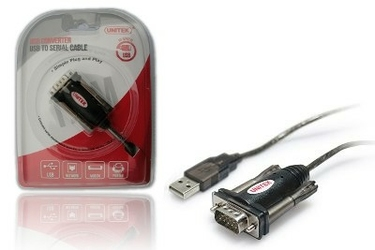 Unitek Adapter USB- 1xRS-232 + Adapter DB9FDB25M  Y-105A