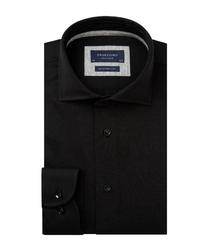 Czarna koszula męska z dzianiny 37
