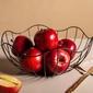 Koszyk metalowy  druciany na owoce czarny altom design kwiat 28 cm