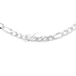 Łańcuszek diamentowany figaro płaskie pr. 925 ø 0150 - bez powłoki  6,8 mm