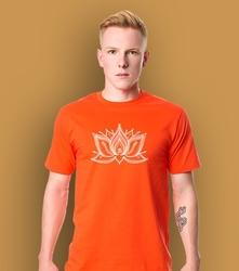 Lotos pulpet t-shirt męski pomarańczowy l