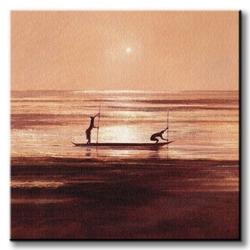 Sinking sun - obraz na płótnie