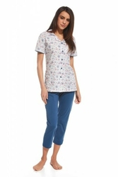 Cornette 696108 summer time 2 biały piżama damska