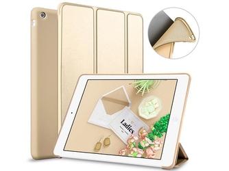 Etui alogy smart case apple ipad air silikon złote + szkło - złoty