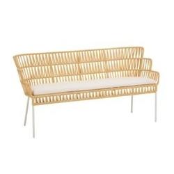 Sofa ogrodowa maste musztardowa