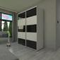 Szafa przesuwna o175 x 245 - barwione szkło