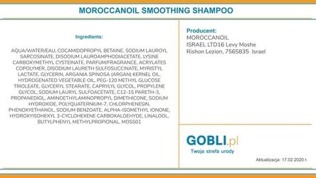 Moroccanoil smooth wygładzający szampon, włosy puszące się 70ml