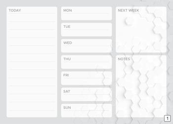 Tablica suchościeralna weekly planner 427