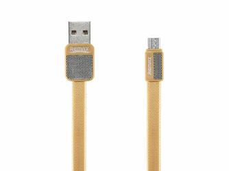 Kabel Remax RC-044m Platinum USB - Micro USB Metal Złoty - Złoty