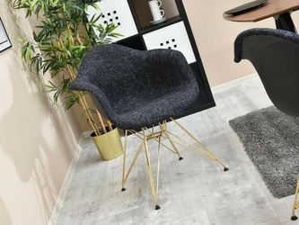 Fotel tunis czarny nowoczesny