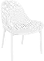 Fotel sky biały - biały