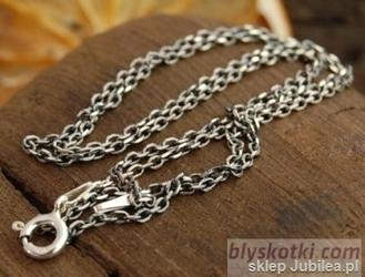 ANTIC - srebrny łańcuszek 60cm