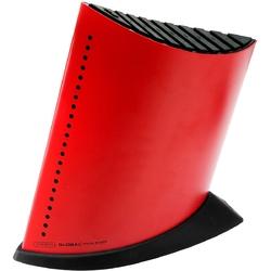 Blok w kształcie żaglowca na 9 noży kuchennych czerwony global gkb-52cr