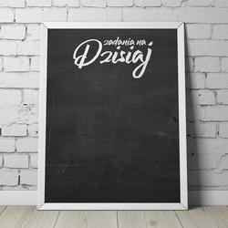 Designerska tablica kredowa z napisem quot;zadania na dzisiajquot; , wymiary - 60cm x 90cm, kolor ramki - czarny, orientacja tablicy - pozioma