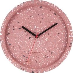 Zegar ścienny tom terazzo różowy