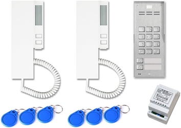 Domofon aco familio 2-rodzinny na tynk, zamek szyfrowy.czytnik brelok. - możliwość montażu - zadzwoń: 34 333 57 04 - 37 sklepów w całej polsce