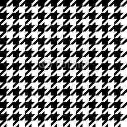 Obraz na płótnie canvas trzyczęściowy tryptyk wzór houndstooth