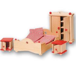 Wyposażenie domków - Sypialnia czerwona