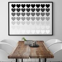 Shadowheart - plakat typograficzny , wymiary - 70cm x 100cm, ramka - biała