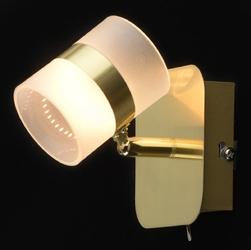 Złoty kinkiet led - regulowany punkt świetlny demarkt techno 704023301
