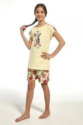 Piżama dziewczęca cornette 24565 kids aloha żółty
