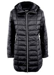 Płaszcz z lekkiego puchu bonprix czarny