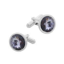 Spinki do mankietów z kryształami swarovski srebro pr. 925 004 sp