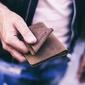 Skórzany zestaw portfel i bilonówka brodrene sw05 + cw01 jasnobrązowy - j. brązowy