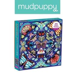 Puzzle rodzinne kalejdoskop z motylami 500 elementów 8+, mudpuppy