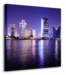 Night Scene, Dubai - Obraz na płótnie