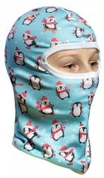 Ocieplana dziecięca kominiarka termoaktywna 3d - pingwinki snow