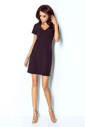 Sukienka mini czarna trapezowa