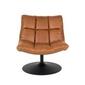 Dutchbone :: fotel bar vintage brązowy - dutchbone