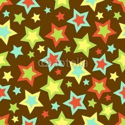 Obraz na płótnie canvas czteroczęściowy tetraptyk odważne tło gwiazd