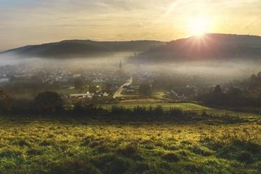 Fototapeta miasteczko zachód słońca 619