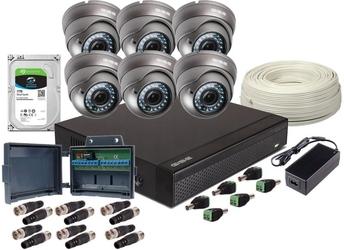 Zestaw ahd, 6x kamera full hdir 35, rejestrator 8ch +1tb - szybka dostawa lub możliwość odbioru w 39 miastach