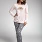Cornette 160168 bedtime story różowy piżama damska