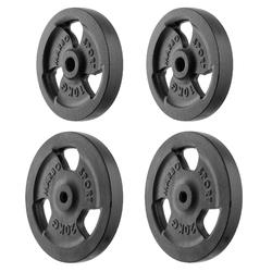 Zestaw obciążeń żeliwnych kierownica 60 kg  2 x 20 kg + 2 x 10 kg mw-2x20kg_2x10kg-kier - marbo sport - 2 x 20 kg, 2 x 10 kg