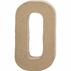 Litera z papier mache 20,5x2,5 cm - O - O
